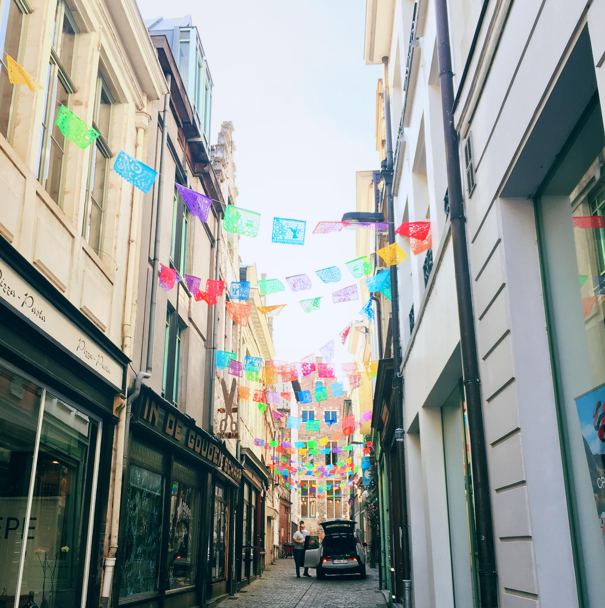 Pretty street in Ghent