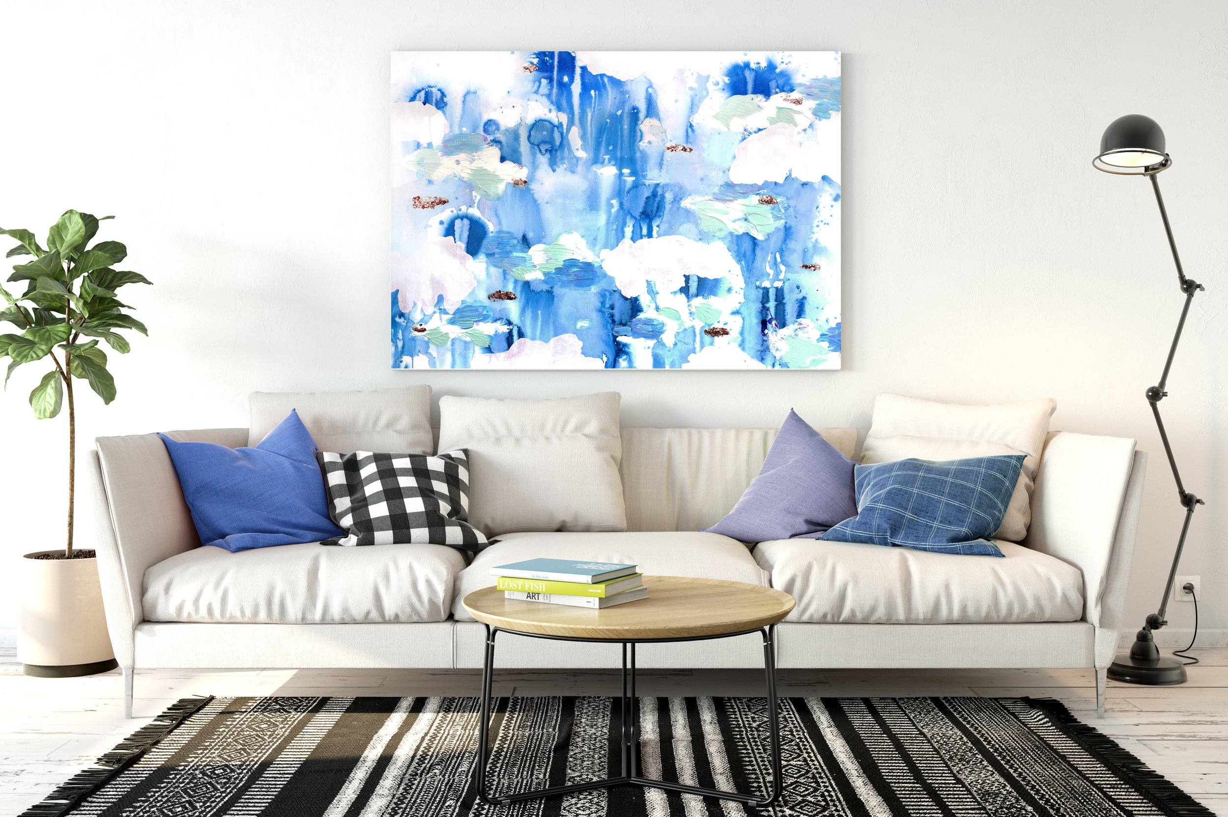 Color therapy - for boring walls! Available on my pop up gallery shop!