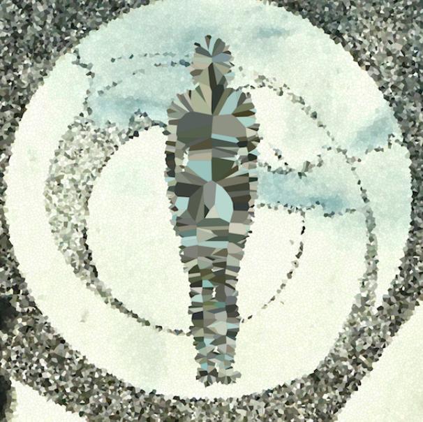 Lady Voronoi  by American artist Zane Blanton