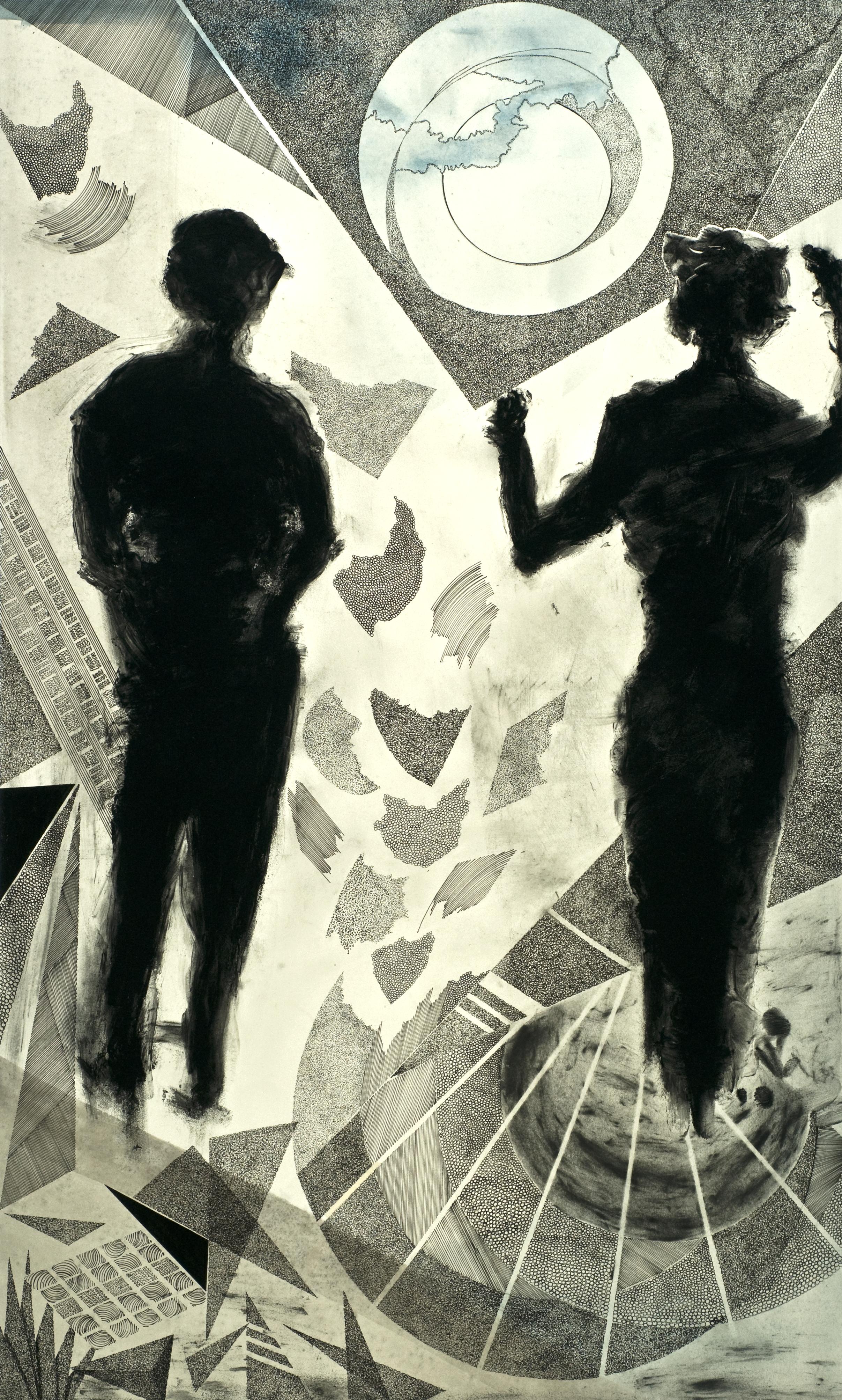 Holding Up Her Half of the Sky  by German artist Hilla Hueber.