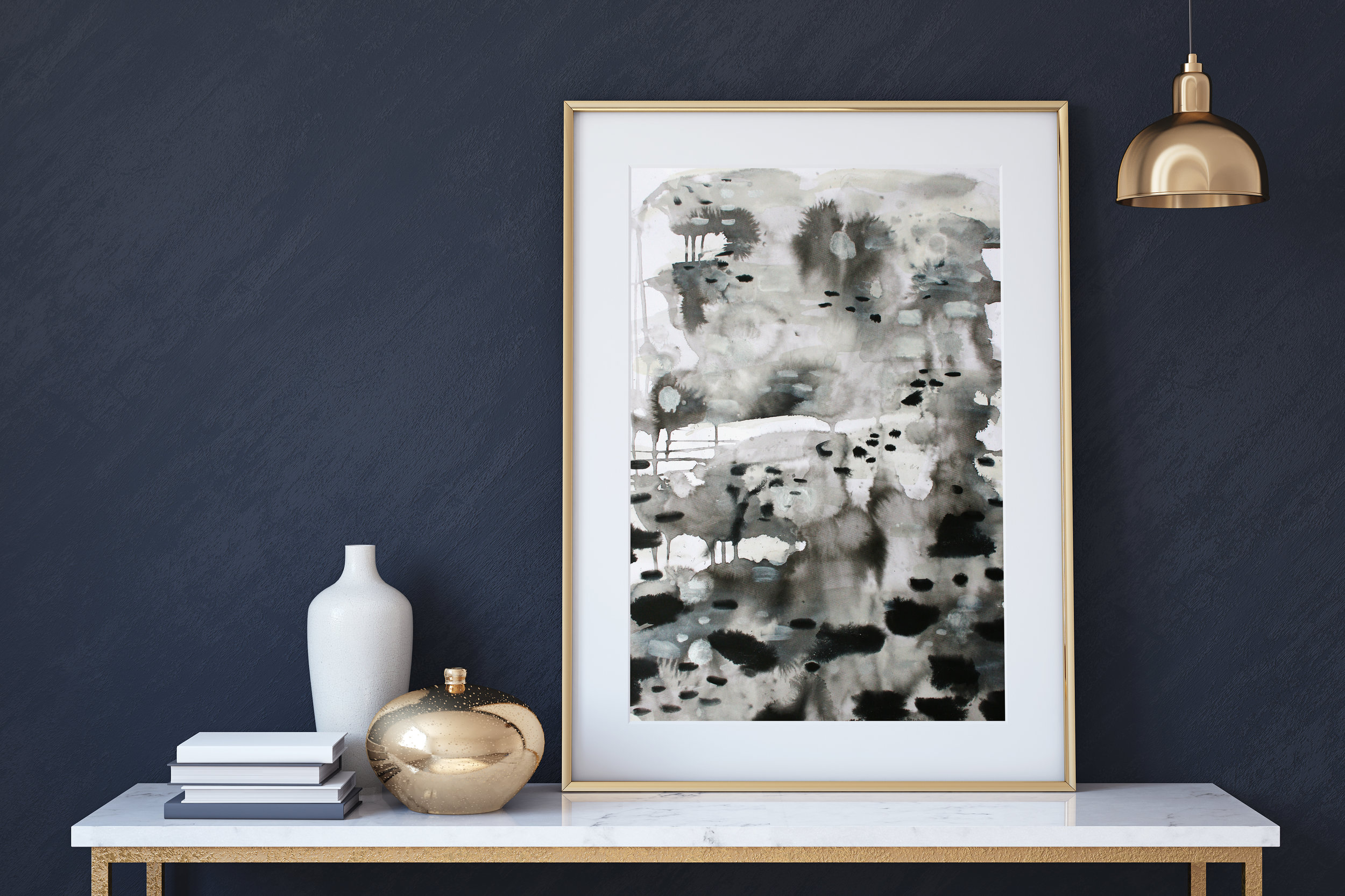 Absence 1 by Katrina Slade  |  art print on paper  |  abstract painting