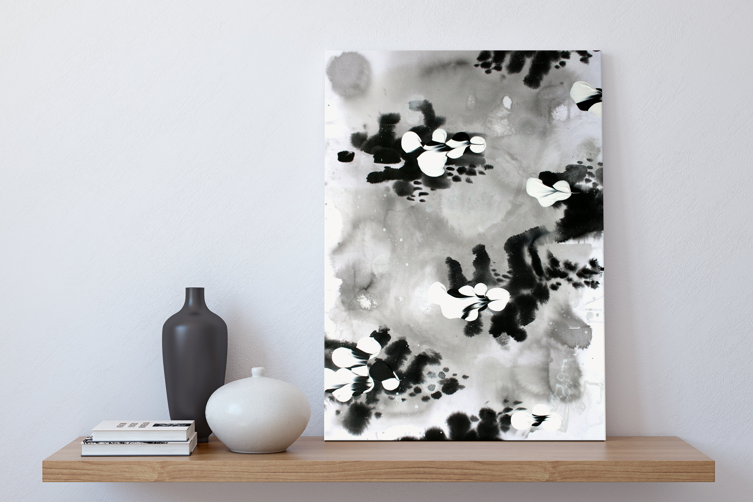 Absence 3 by Katrina Slade  |  art print on paper  |  abstract painting