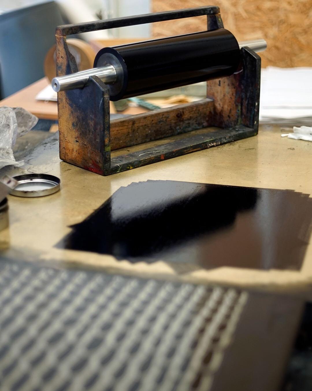 Anna Curtius printmaking studio