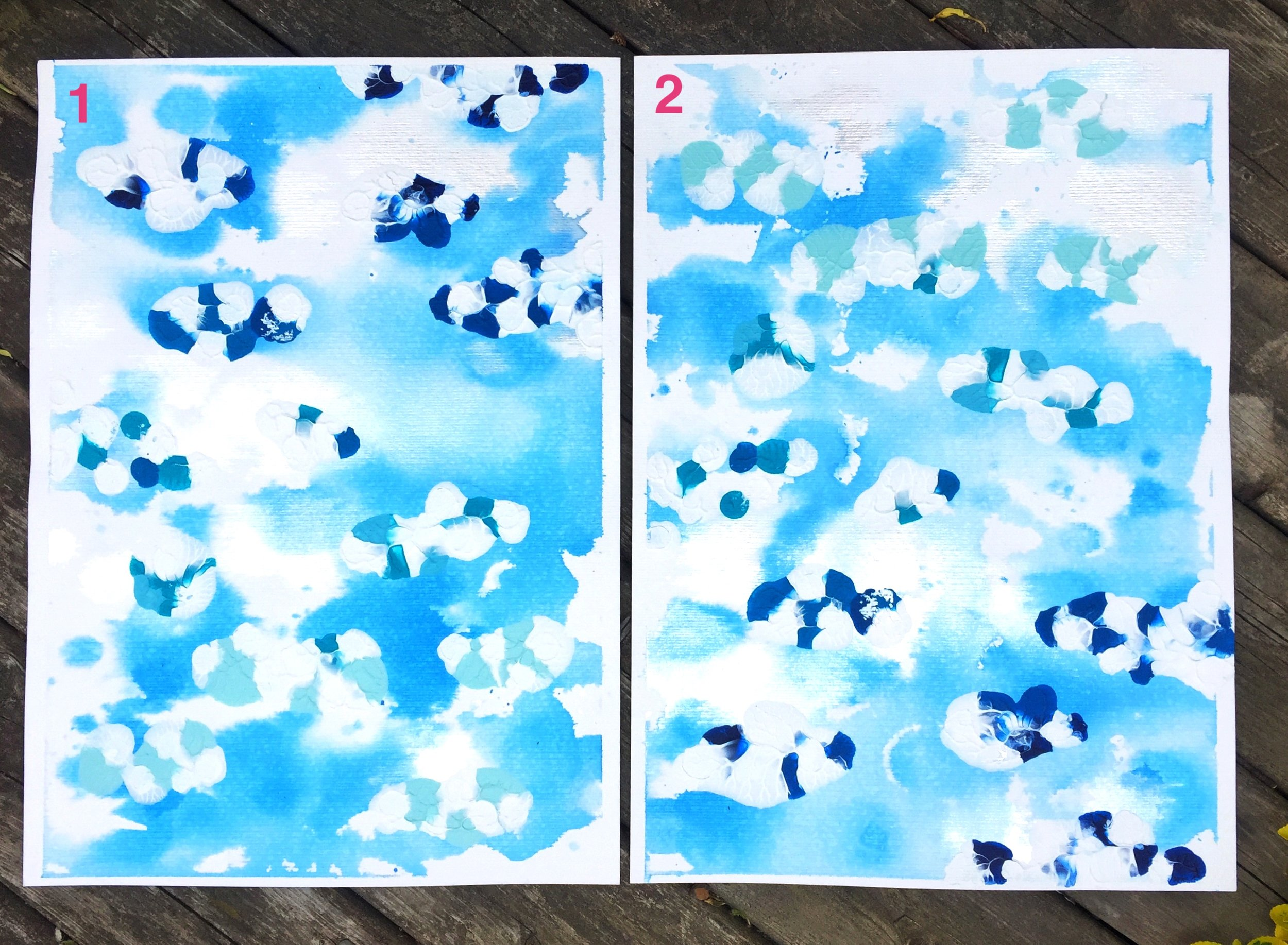"""Muse 2 ($250 together, $139 each) - mixed media on paper - 9x13"""" each"""