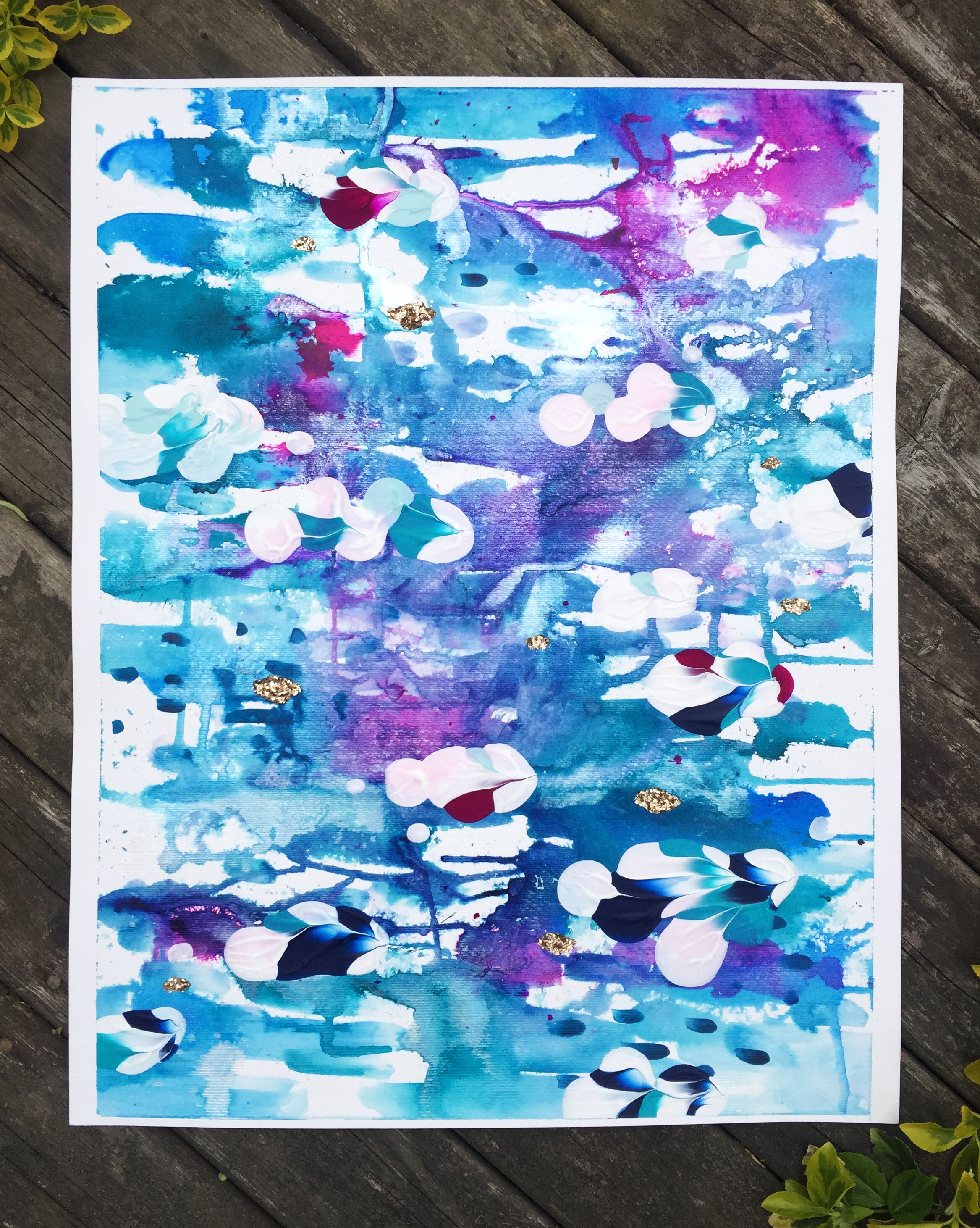 """Muse 6 ($250) - mixed media on paper - 15x19"""""""