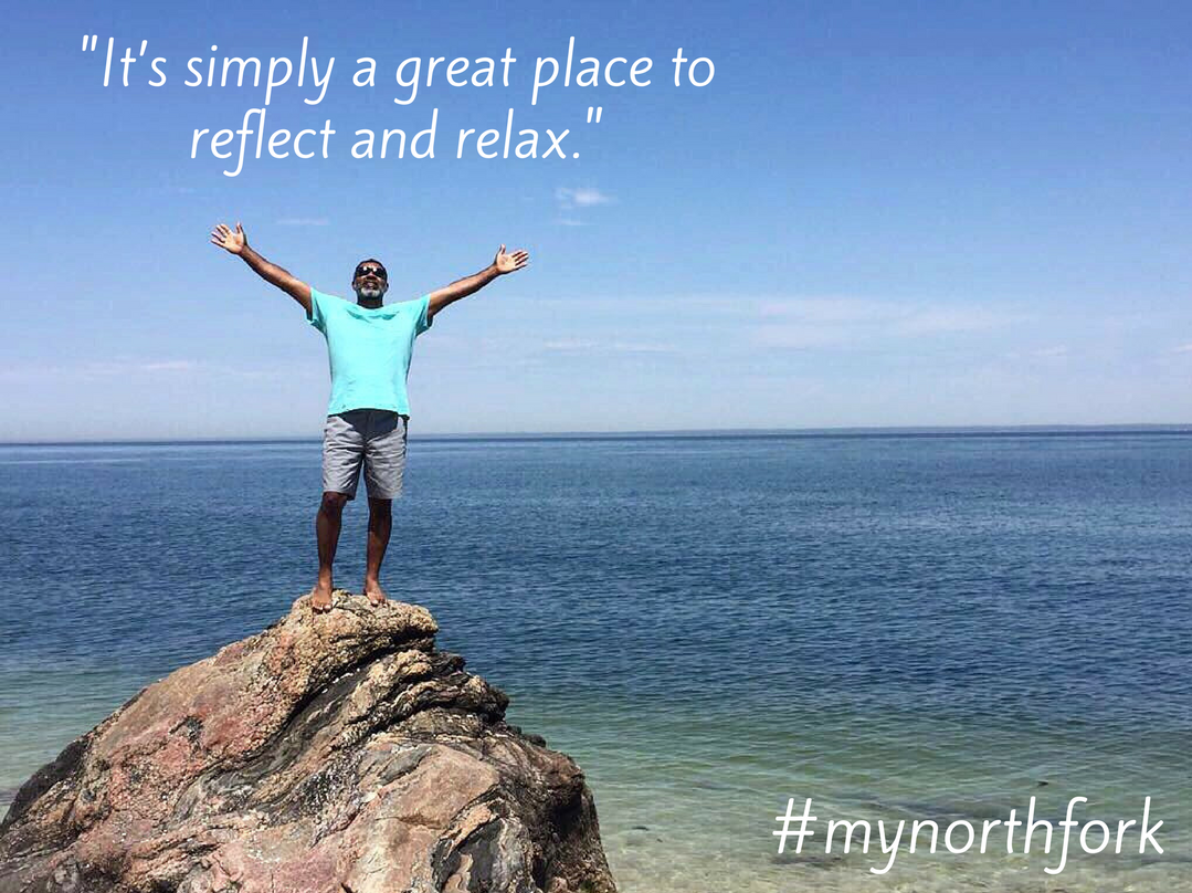 """#mynorthfork 12/8/2017 - """"I enjoy being surrounded by so much nature – whether by beaches with crystal clear water, fields as far as the eye can see, or driving past the animal farms, the North Fork has it all! I learned a lot about the North Fork at the East End Seaport Museum in Greenport. The historical photographs show how much the area has changed but managed to preserve a peaceful and kindhearted spirit. Love Lane is memorable to me for the delicious food options and products. Speaking of food, nothing says relaxing like good wine and cheese. It's simply a great place to reflect and unwind."""""""