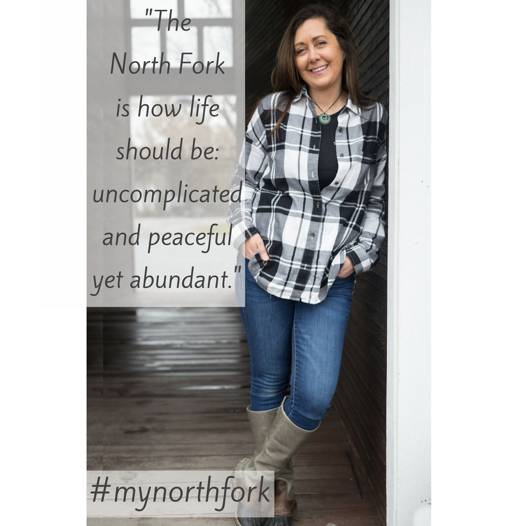"""#mynorthfork 1/12/2018 - """"My first time in the North Fork was in the 1970's. My Godfather had a house in Peconic where we would always visit to go fishing. Our family would gather with many Greek friends in Greenport and it became our Greek home away from home. These memories stayed with me throughout the years. The North Fork is my favorite place in New York because of the sense of community. People here are kinder and operate at a slower pace. My hope is that it's preserved to stay as quaint and quiet as possible.""""(Marianna, Lenz Winery)"""