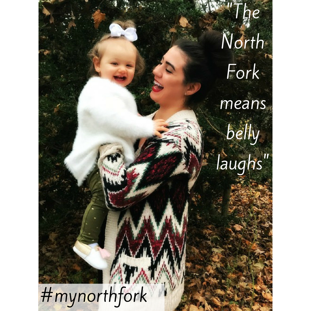 """#mynorthfork 1/26/2018 - The North Fork is a place that my family has called home for many generations. I even grew up on a street named after my great grandfather. It is a place unlike any other because the people are as beautiful and warm as the vineyards, farms, and beaches that pepper the landscape. The North Fork means belly laughs with friends over wine at my favorite winery, cheers with craft beers at the local breweries, fondue at the Village Cheese Shop, strolls with my family along the beach, and countless trips to Harbes Family Farm to spend the day with baby goats and pigs that snort almost as much as my toddler. The North Fork is a place with strong community values, which makes it the only place I can ever imagine raising my family. The North Fork is """"home sweet home"""". - Meg Howard (nofomomma.com)"""