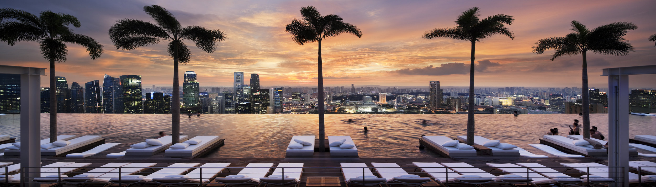 Mind blowing views from the pool atop Marina Bay Sands, Singapore