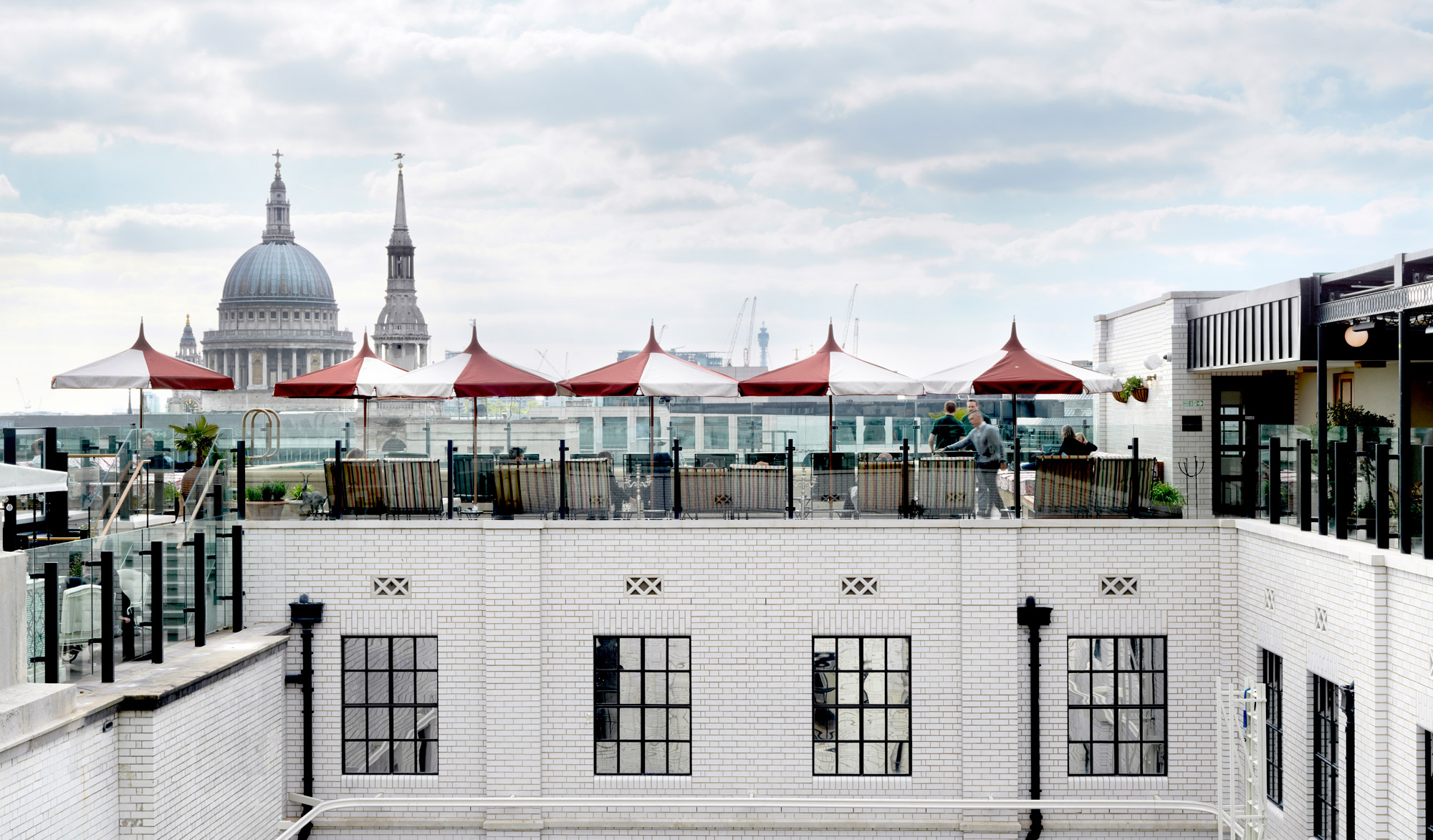 City views from the roof top of London's The Ned. Image credit The Ned