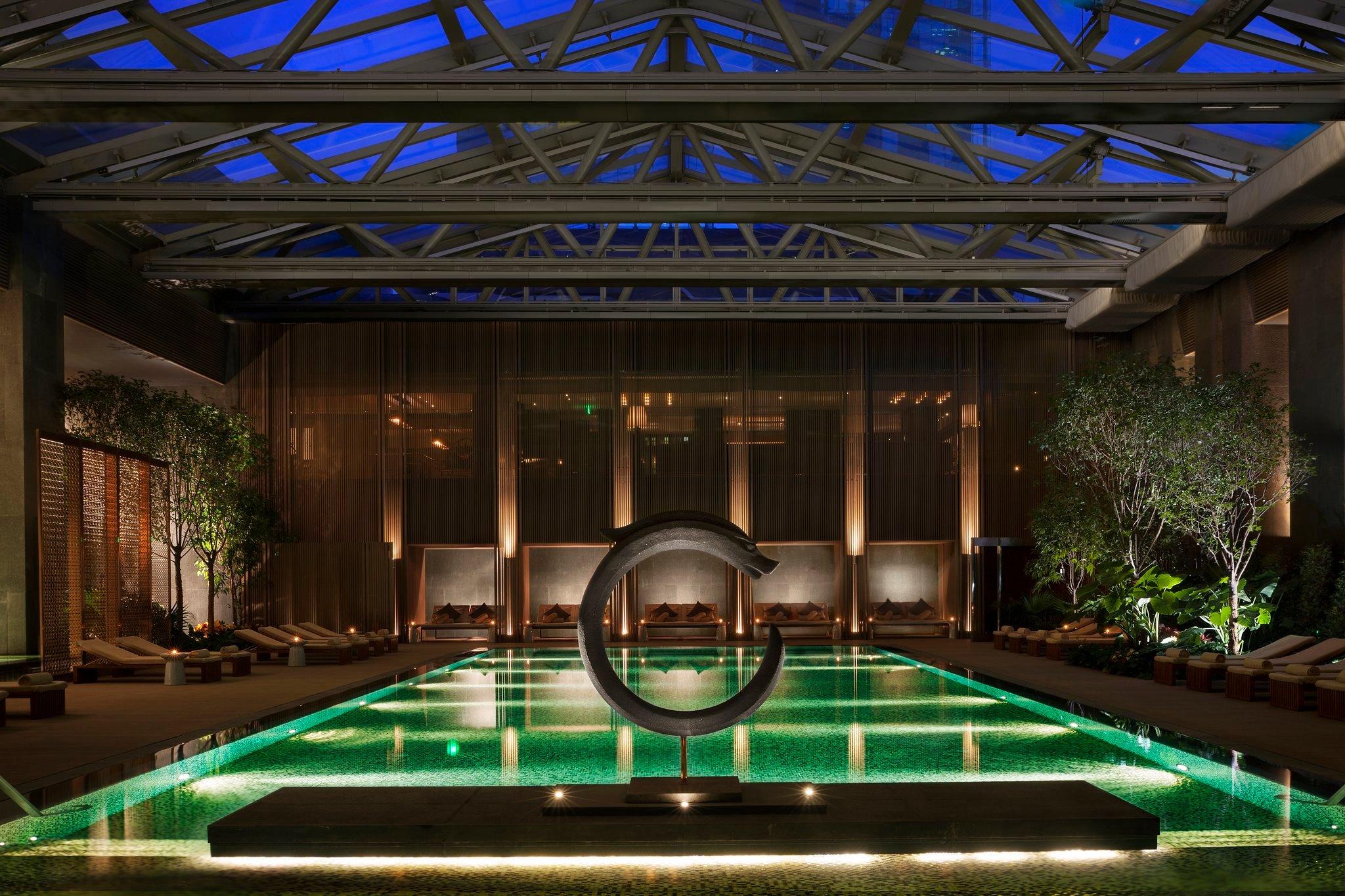 The Rosewood, Beijing's rejuvanating green pool