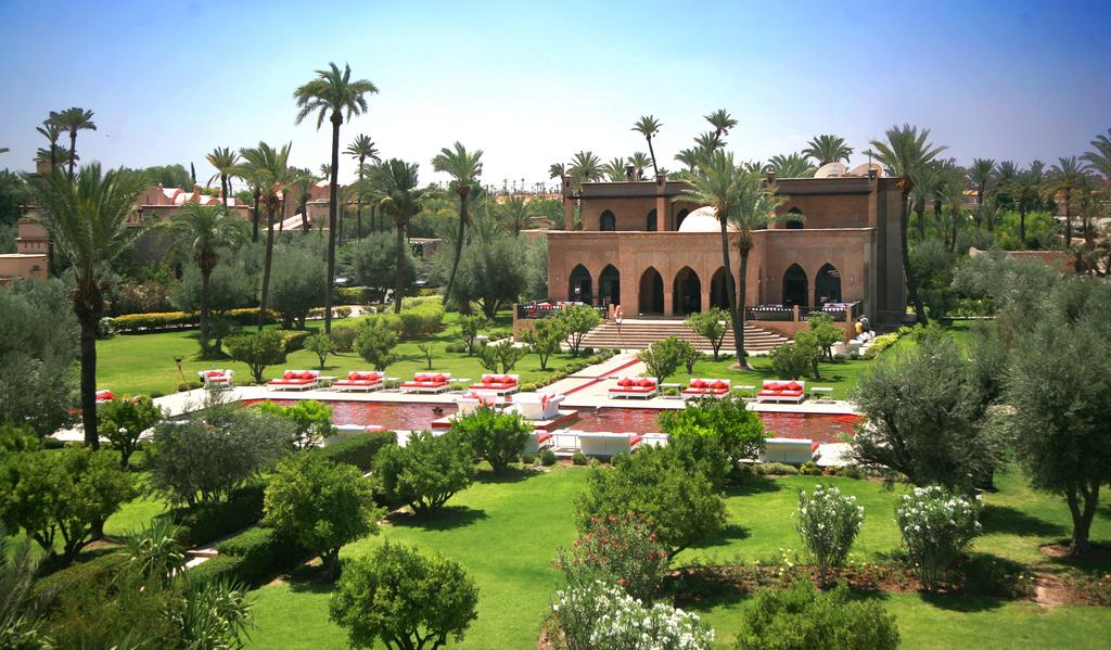 The red pool of the red city at Murano Marrakech