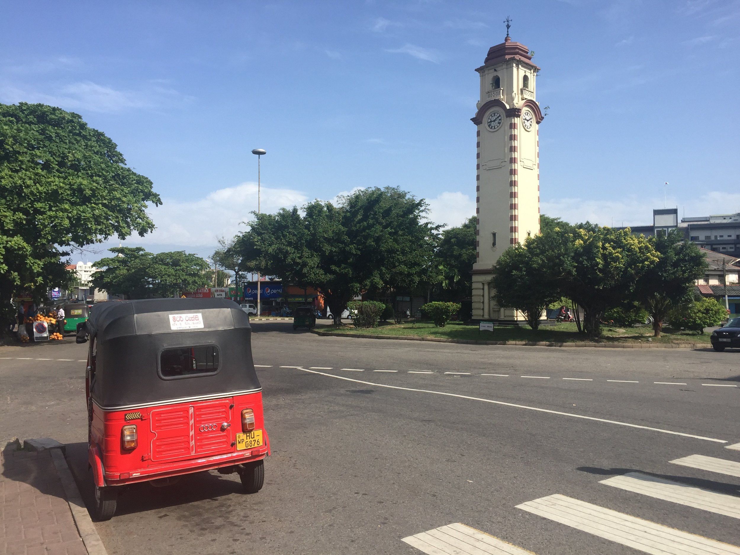 Khan clocktower entrance marks one of the entrances to Pettah Market, Colombo, Sri Lanka