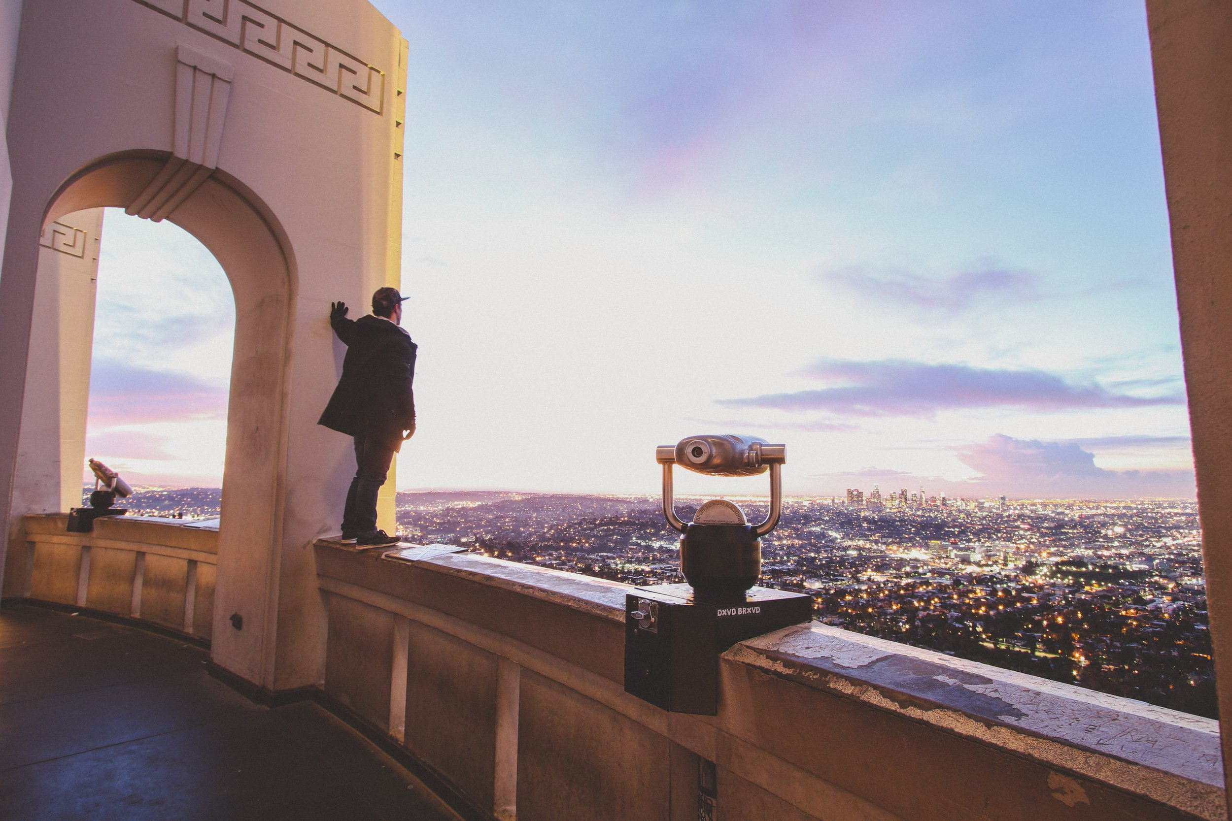 Spectacular vantage point from Griffith Observatory