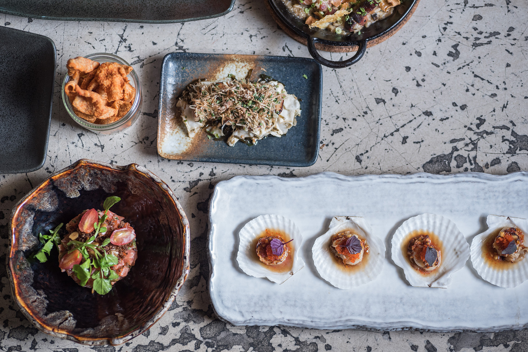 Dishes at Neon Pigeon, Singapore
