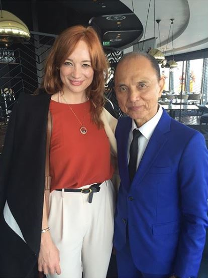 Sarah with Jimmy Choo at The Sugar Club