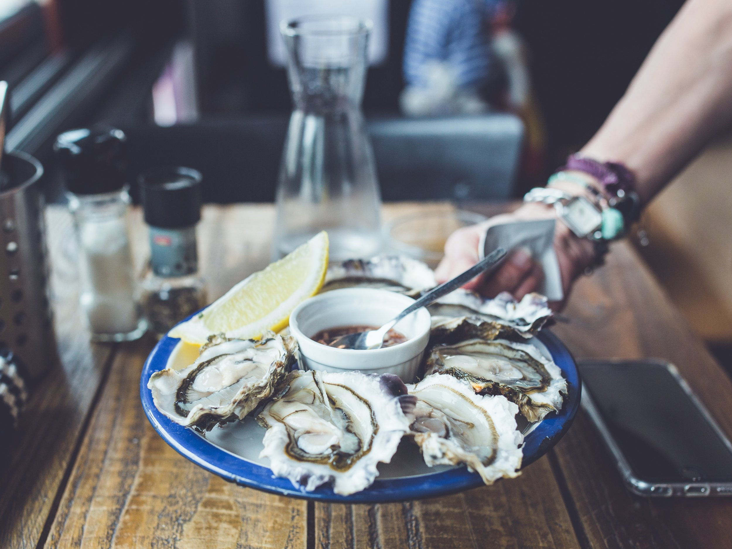 Oysters - Sarah's 'must try' dish