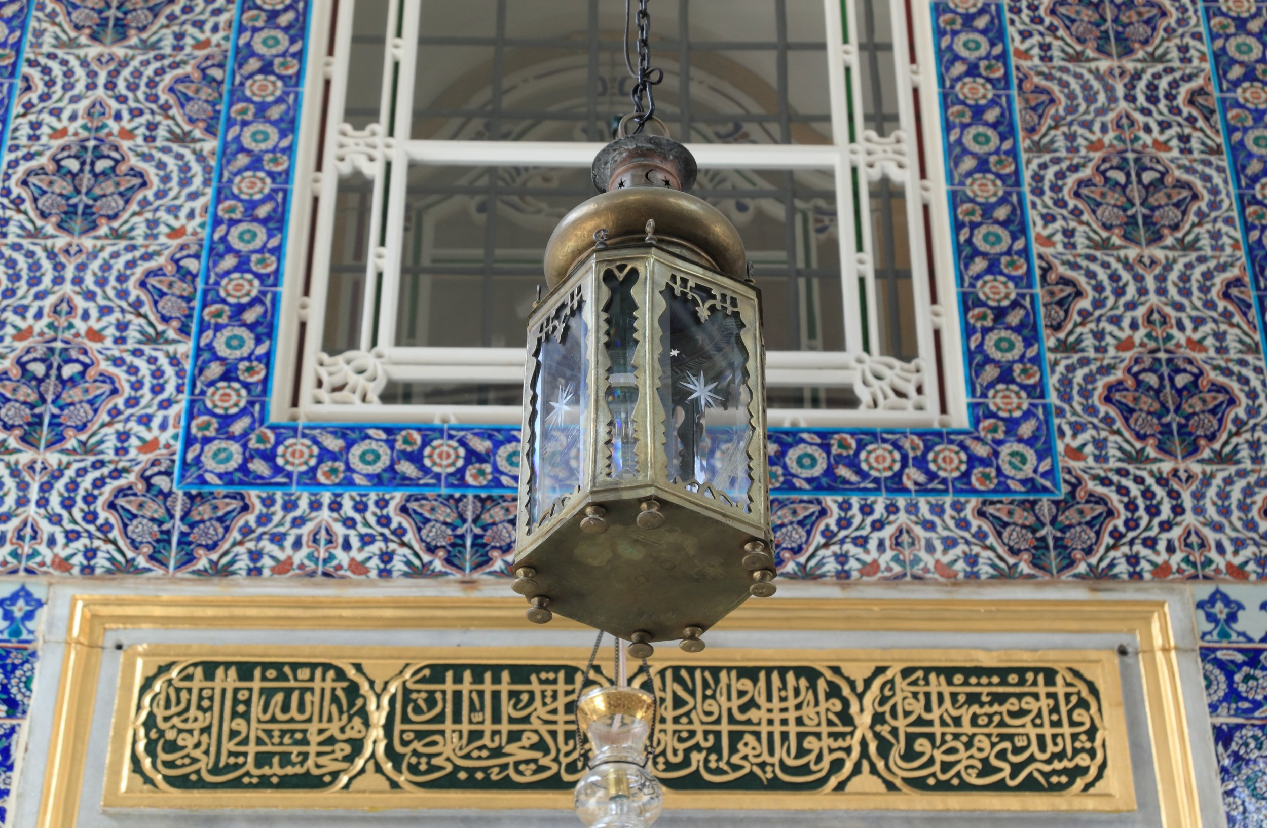 Decorative blue tiles of Sultan Ahmet Mosque - better known as the Blue Mosque