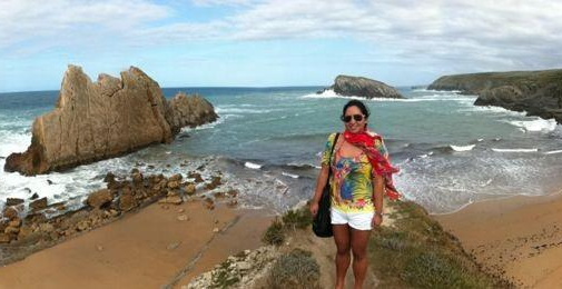Contemporary Class insider, Raisa Yap-Cotas, at one of her favourite beachside spots, Santander, Spain.