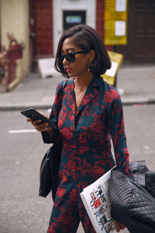 Street style fashionLFW 2018