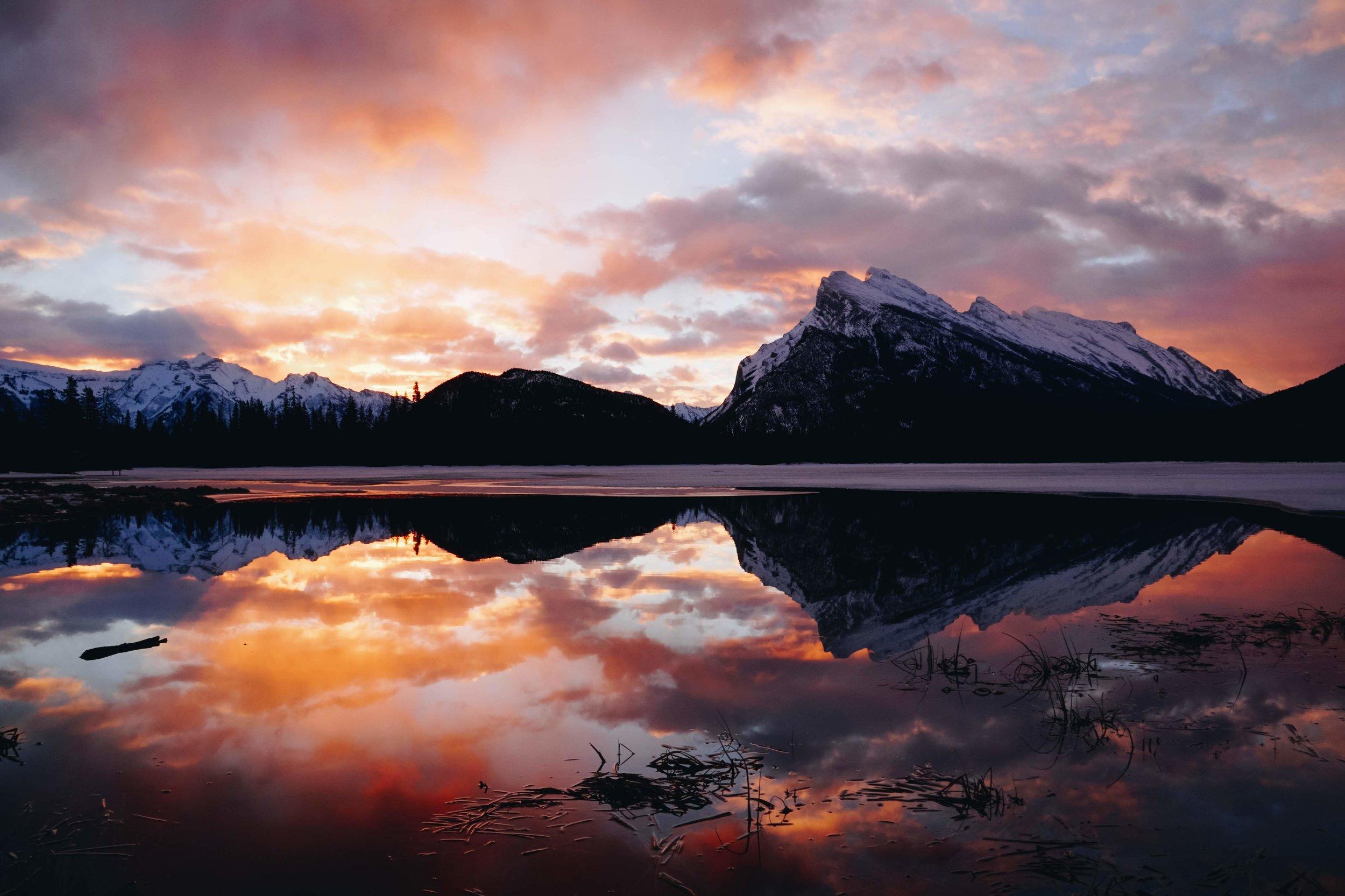 Banff National Park at sunset