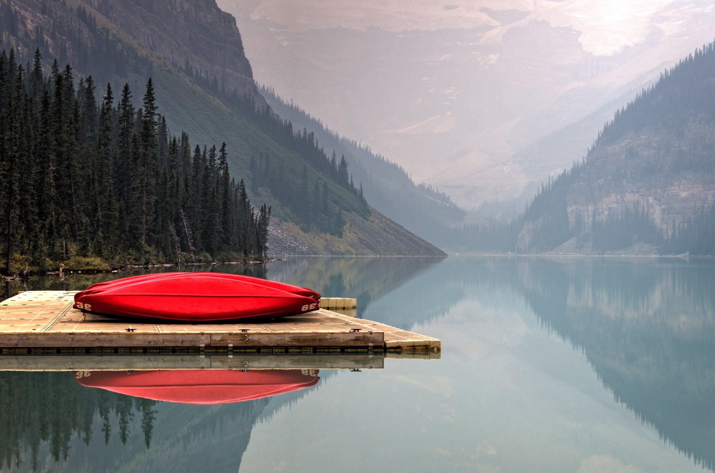 Kayaking, Lake Louise