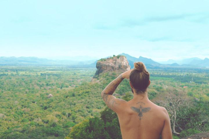 Man overlooking Sigiryiarock, Sri Lanka. Photo Credit: Marvin Meyer