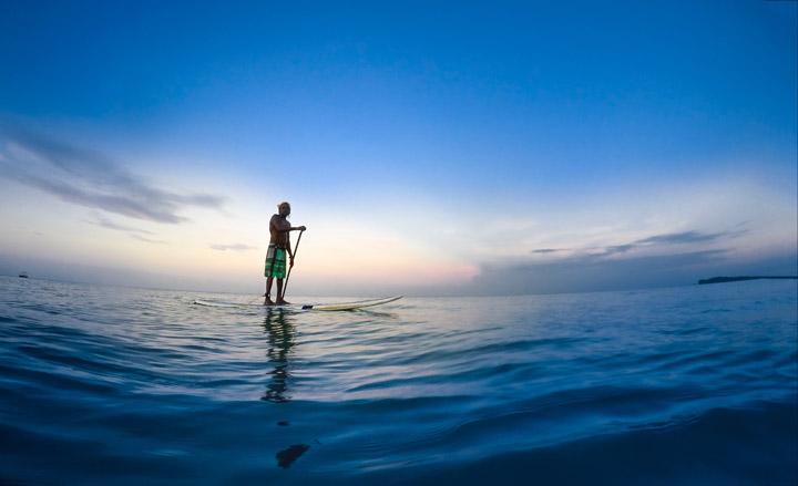 Paddle-boarding in Trincomalee, Sri Lanka