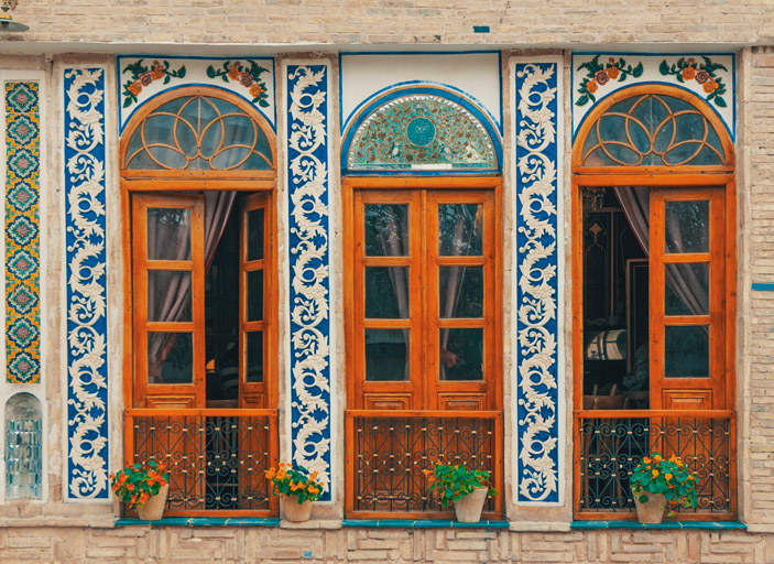 Traditional Persian designed houses in Iran