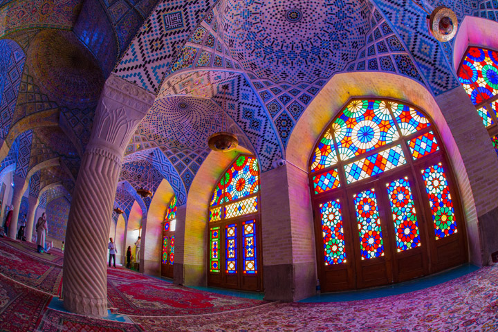 Nasir ol-Molk Mosque, Shiraz - one of Iran's most well known mosques, internationally. Photo Credit: Steven Su