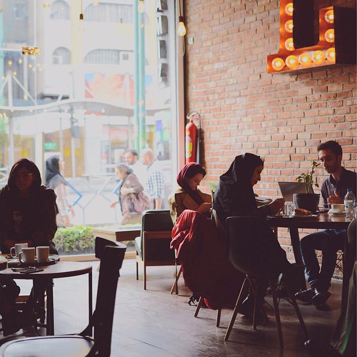 Lamiz Cafe in Tehran, Iran. Photo Credit: Ahmed Barshod.