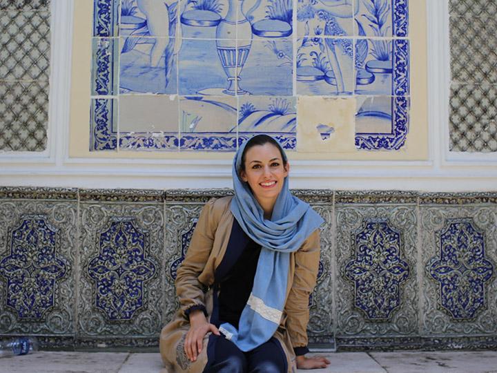 Pontia Fallahi at the Moghadam Museum, Tehran, Iran
