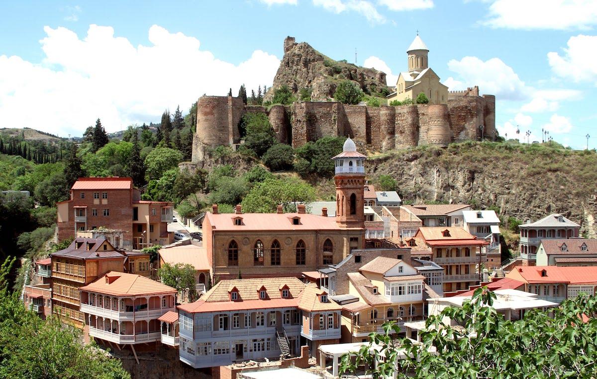 Old Tbilisi and the Narikala fortress, Georgia