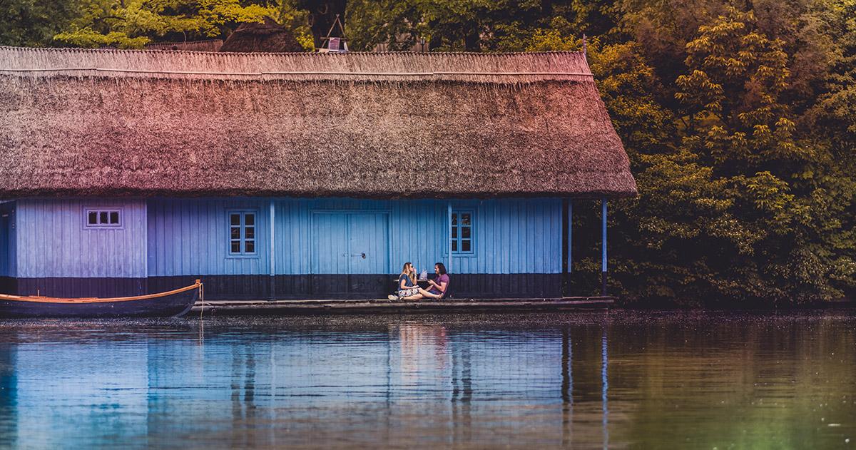 Lake Herăstrău, Romania. Romania was home to great authors such as Emil Cioran and Mircea Eliade.