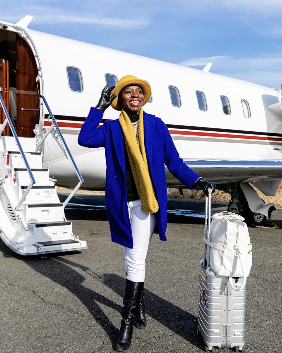Jessica Nabongo at Teterboro Airport, New Jersey