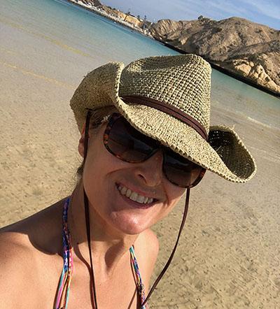 Our insider, Amanda Houston, in Oman.
