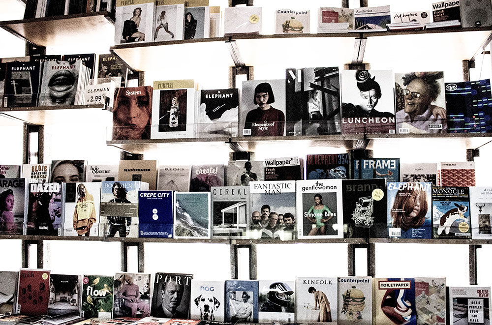 Independent magazine store in London. Photo Credit: Charisse Kenion