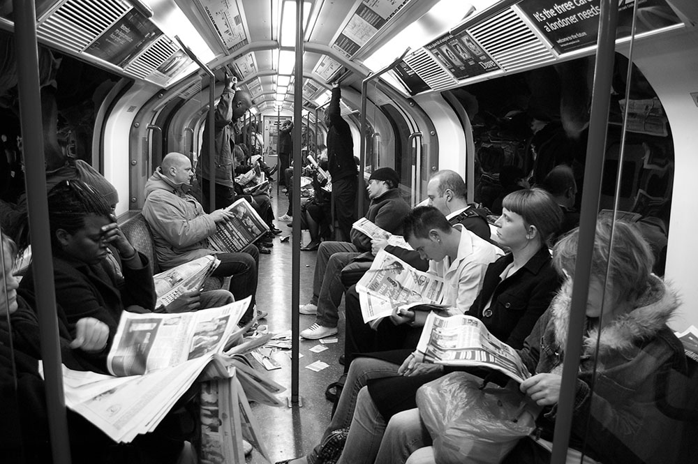 The London Underground. Photo Credit: Peter Lawrence