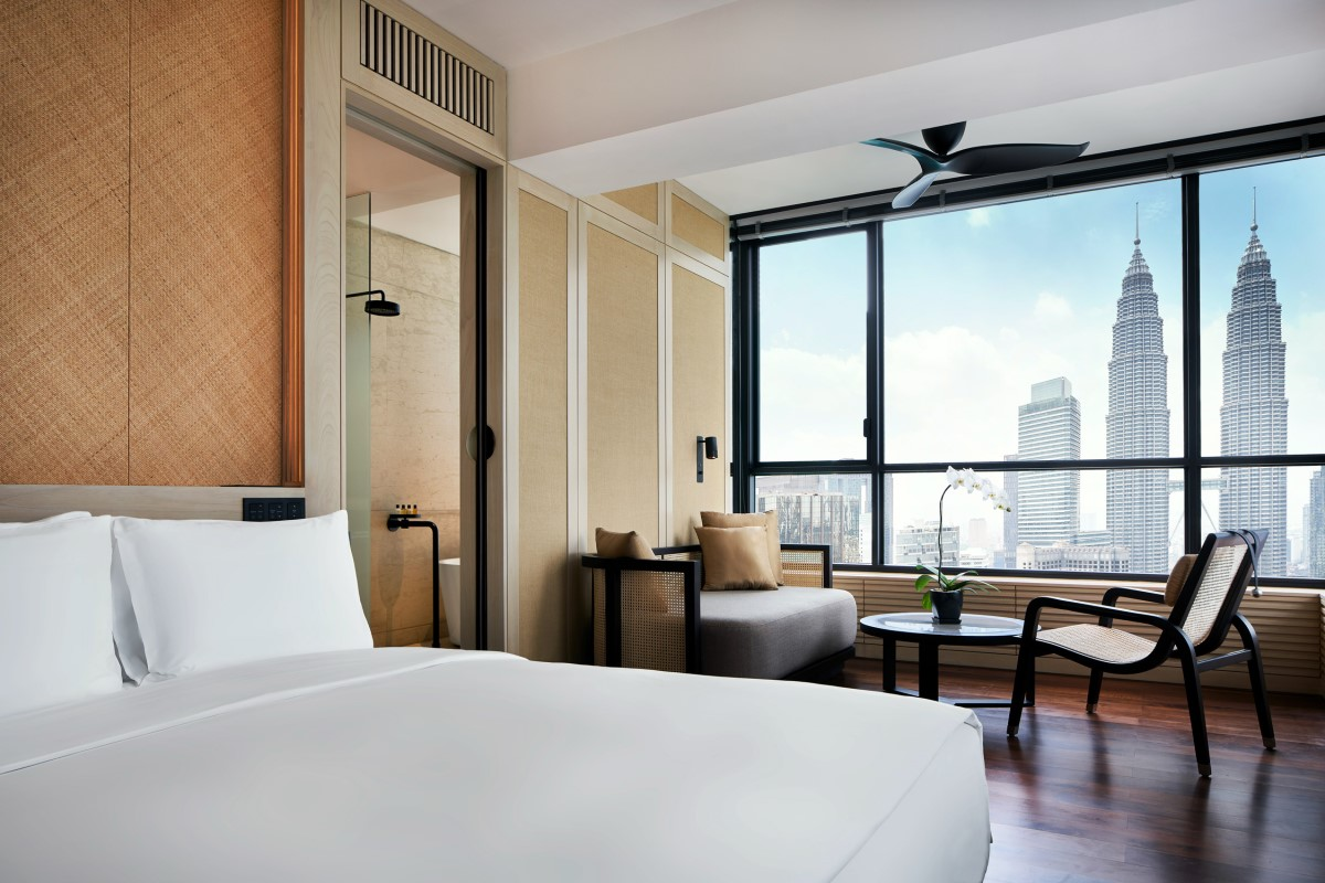 The RuMa Hotel Deluxe Suite with Petronas Towers View