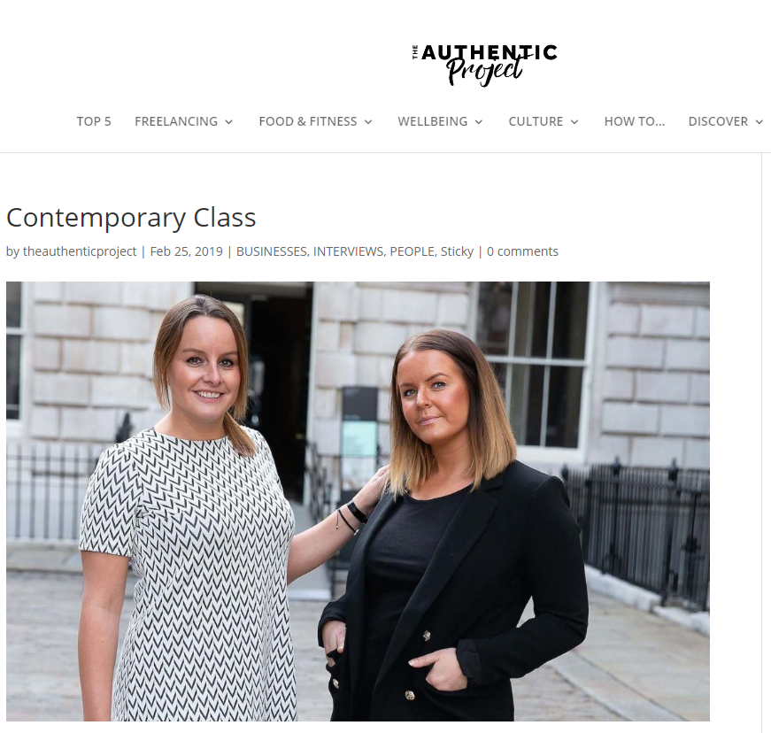 Authentic Project - Contemporary Class Co-Founders & Editors, Katie & Bethany Silcox, are interviewed by Authentic Project, an online platform dedicated to real insights & practical advice for creative freelancers.