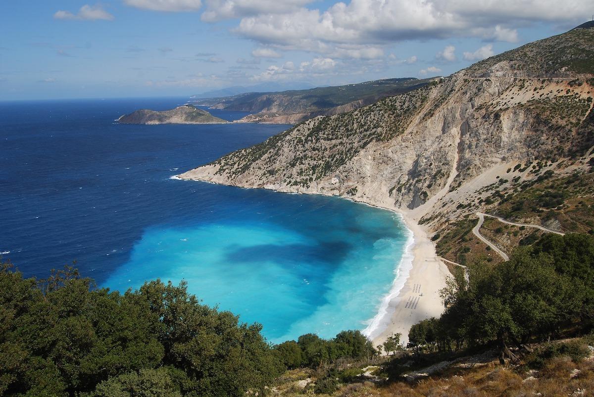 Myrtos Beach, Kefalonia, Grece