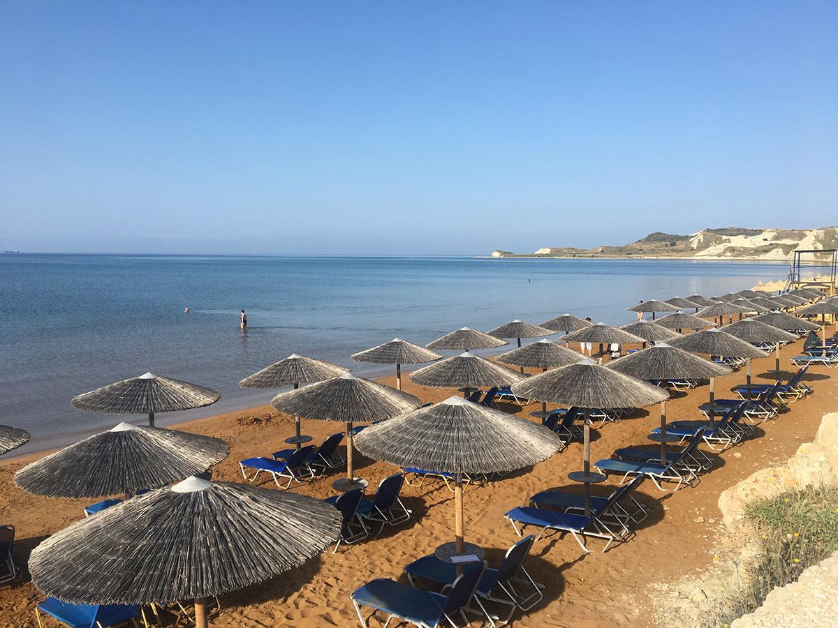 Xi red clay beach, Kefalonia, Greece