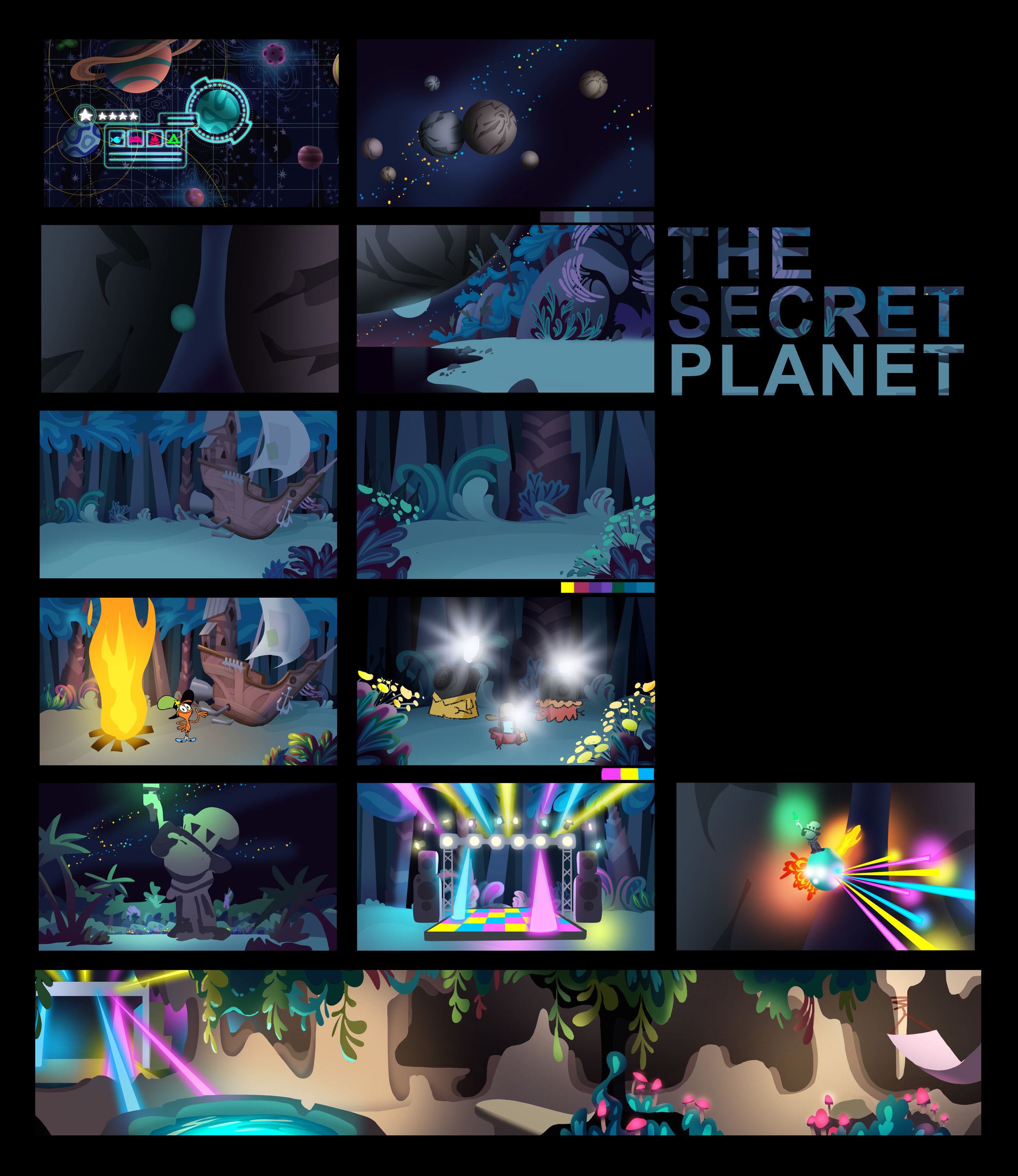 208 Secret Planet Color Script rough.jpg