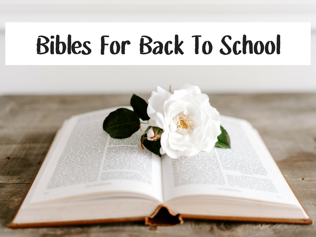 Bibles for back to school