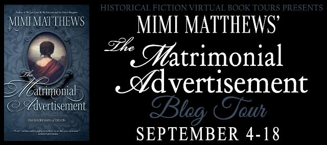 The Matrimonial Advertisement blog tour