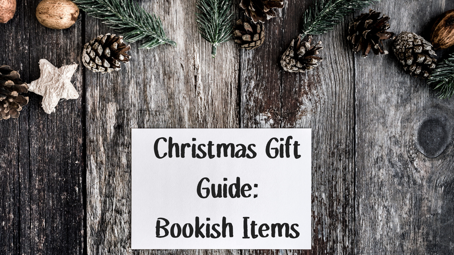 Christmas Gift Guide Bookish Items