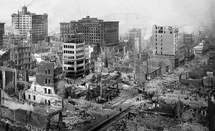1906 San Francisco Earthquake - Image via Berkley University