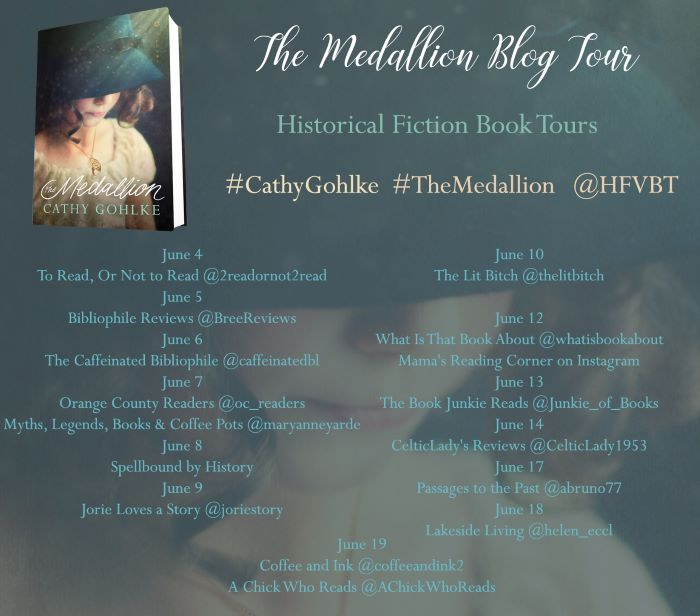 the medallion cathy gohlke blog tour