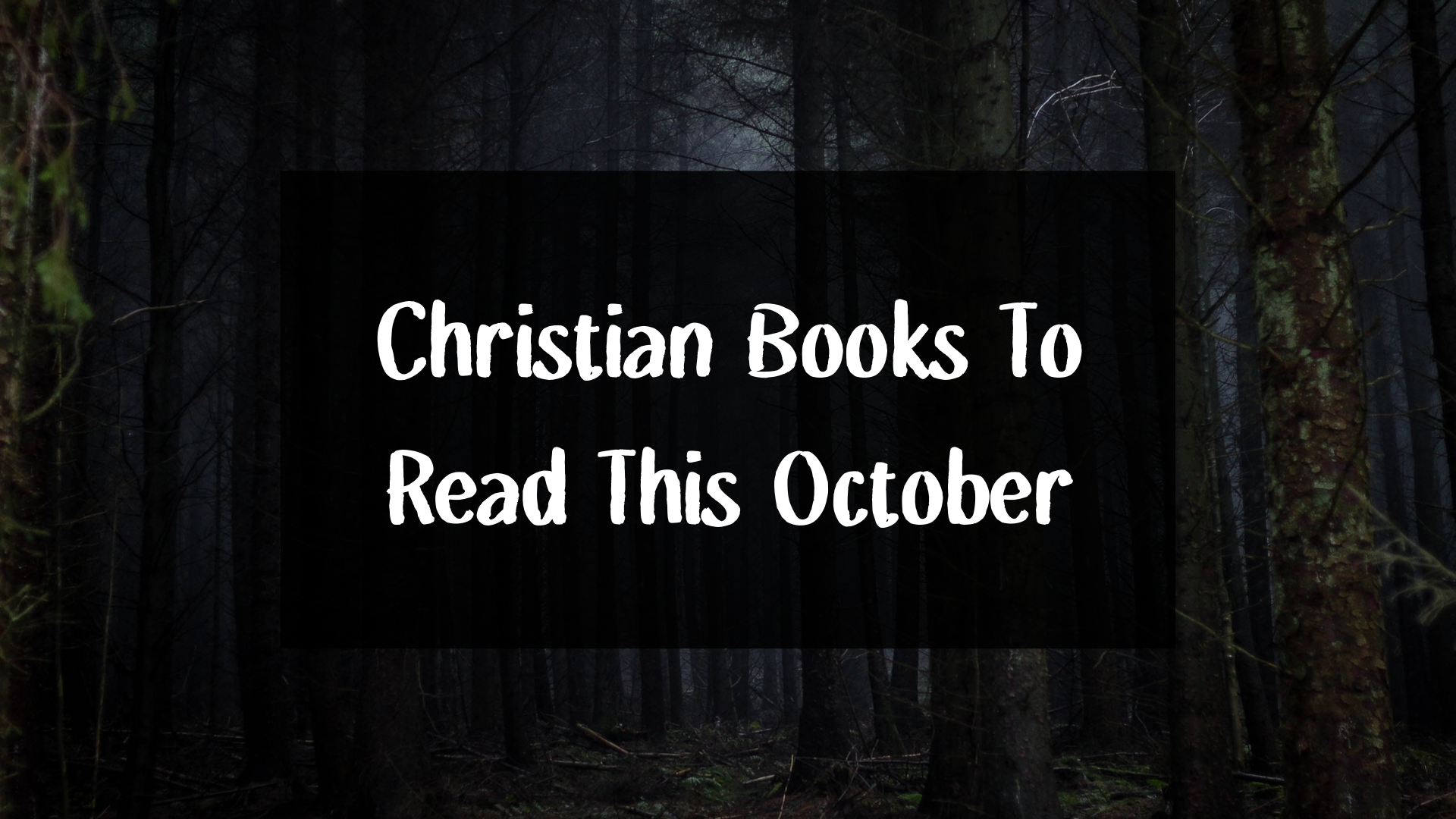 Christian books to read this halloween