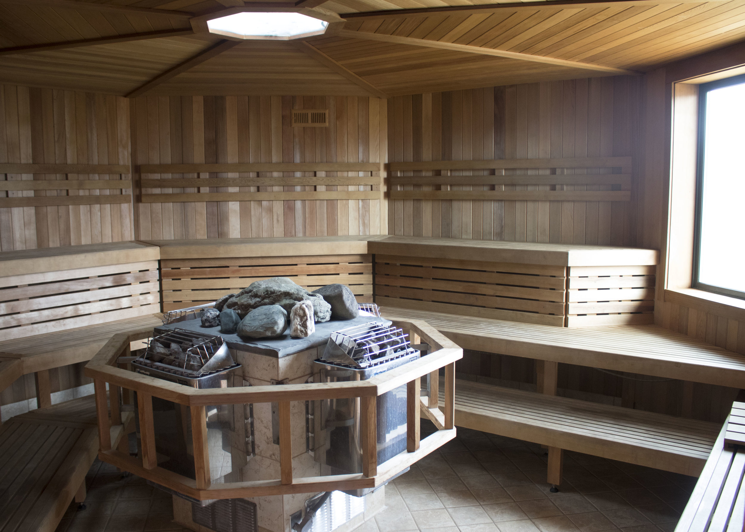 Let it all go at the newly remodeled sauna